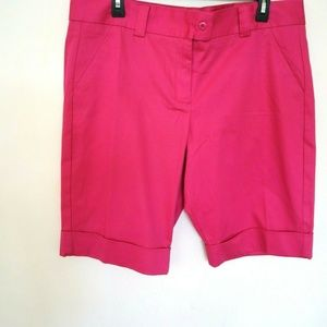 The Limited Hot Pink  Rolled Cuff Casual Shorts